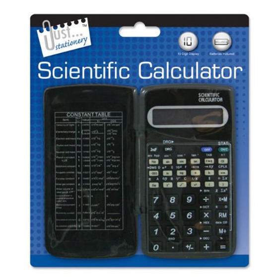 Just Stationery 6179/48 Scientific Calculator with Folding Cover
