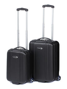 "Constellation Cordoba ABS Suitcase Set, 18 & 28"", Black"