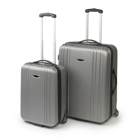 "Constellation 27"" Grey Cordoba ABS Suitcase Luggage Case"