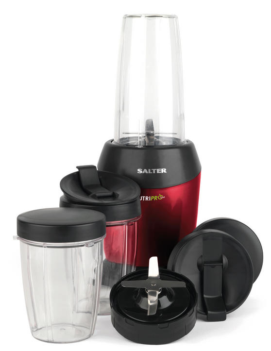 Salter EK2002V2 Nutri Pro Super Charged Multi-Purpose Nutrient Extractor Blender, 1 Litre, 1200 W, Red [Energy Class a]