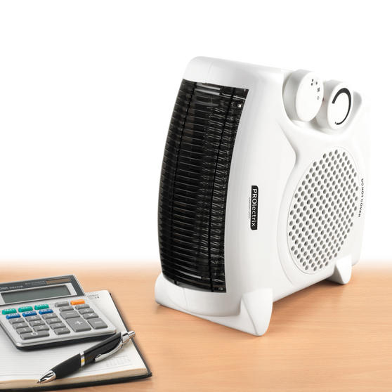 Prolectrix EH0569 2000W Flat Fan Heater with 2 Heat Settings