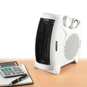 Prolectrix EH0569 2000W Flat Fan Heater with 2 Heat Settings Thumbnail 1