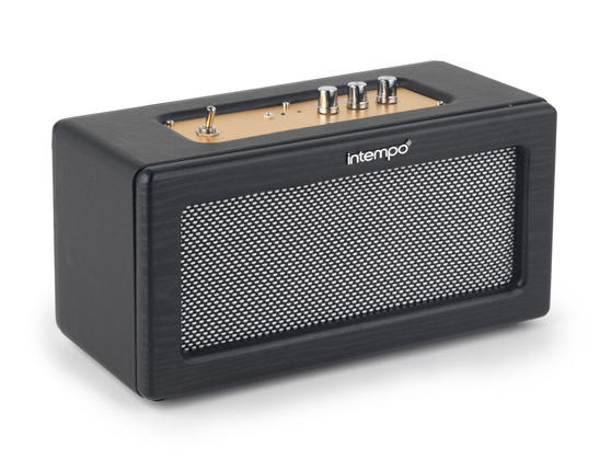 Intempo Retro Speaker with Leather Cover