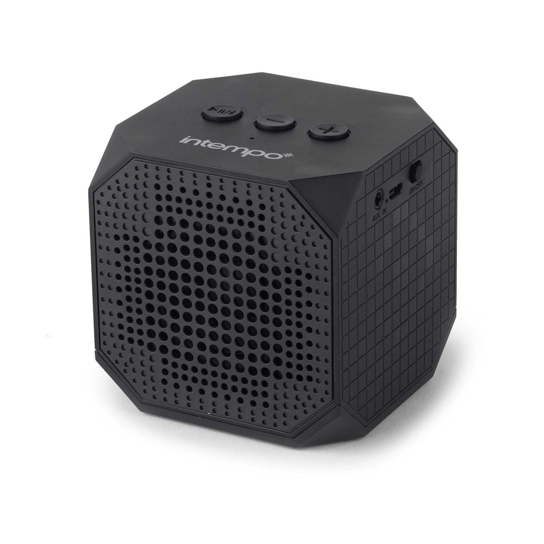 Intempo Cube Portable Bluetooth Speaker, Black