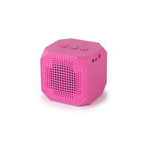 Intempo EE1288 Pink Cube Portable Bluetooth Speaker