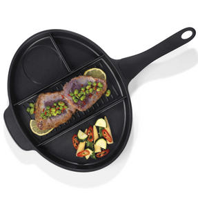 Progress BW05298 Aluminium 4 Section Non Stick Frying Pan Thumbnail 2