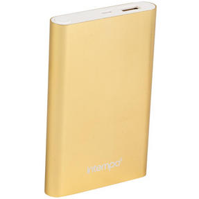 Intempo EG0324 Gold 8000MaH Aluminium Power Bank Charger