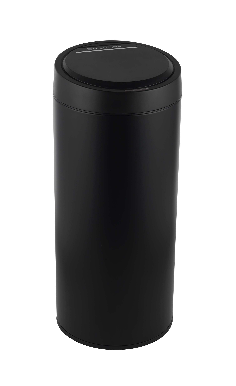 Rus Hobbs Bw05386b 40 Litre Matte Black Stainless Steel Sensor Kitchen Bin