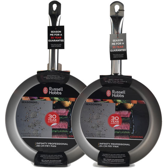 Russell Hobbs Infinity Set of 2 Frying Pans, 24/28cm