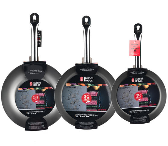 Russell Hobbs Infinity Set Of 2 24 28cm Frying Pans With Wok