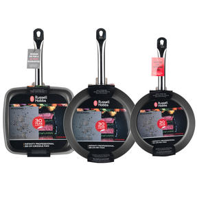 Russell Hobbs Infinity Set of 2 24/28cm Frying Pans with Griddle Pan Thumbnail 4