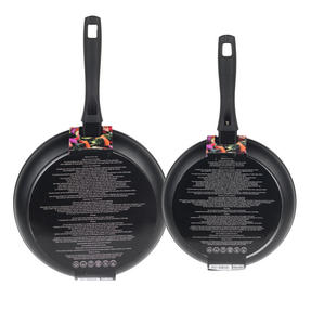 Russell Hobbs Stone Collection Set of 2 Frying Pans, 24/28cm, Black Thumbnail 5