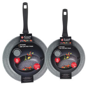 Russell Hobbs Stone Collection Set of 2 Frying Pans, 24/28cm, Grey Thumbnail 4