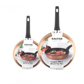 Salter Copper Effect Set of 2 Frying Pans, 24/28cm Thumbnail 5