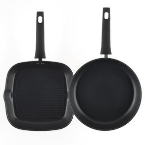 Salter Copper Effect Frying Pan and Griddle Pan Set, 28/28cm Thumbnail 2