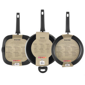 Salter Copper Effect 3 Piece 28cm Frying Pan, Wok and Griddle Pan Set Thumbnail 4