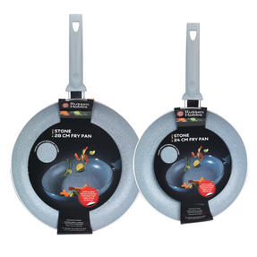 Russell Hobbs Stone Collection Set of 2 Frying Pans, 24/28cm, Daybreak Thumbnail 4