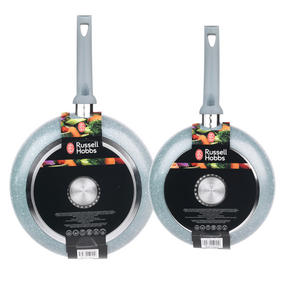 Russell Hobbs Stone Collection Set of 2 Frying Pans, 24/28cm, Daybreak Thumbnail 5