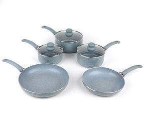 Russell Hobbs Stone Collection 3 Piece Saucepan Set with 24/28cm Frying Pans, Daybreak Thumbnail 1