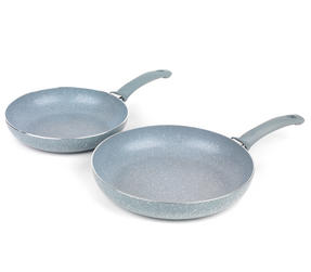 Russell Hobbs Stone Collection 3 Piece Saucepan Set with 24/28cm Frying Pans, Daybreak Thumbnail 3