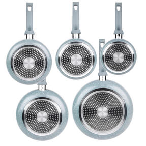 Russell Hobbs Stone Collection 3 Piece Saucepan Set with 24/28cm Frying Pans, Daybreak Thumbnail 5