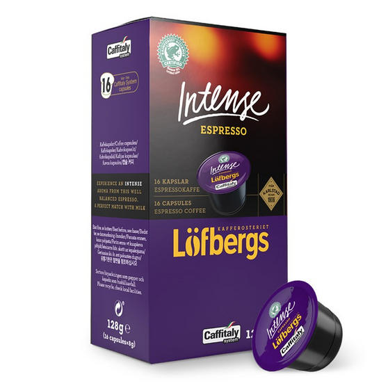Lofbergs LC122-96 Intense Espresso Coffee Capsules, Pack of 96