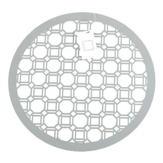 Inspire Luxury Lacquered Octagon Round Placemat, 35cm, MDF, Grey, Set of 4