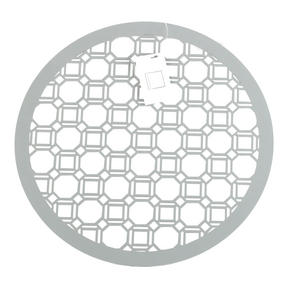 Inspire Luxury Lacquered Octagon Round Placemat, 35cm, MDF, Grey, Set of 4 Thumbnail 1