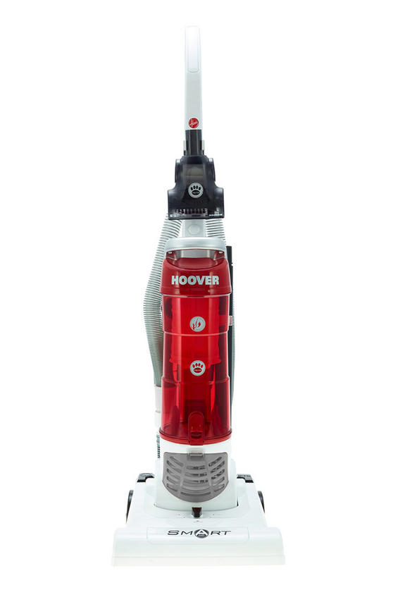 Hoover TH71 SM02001 Smart Bagless Pets Upright Vacuum Cleaner, 3 L, 700 W - White and Red [Energy Class A]