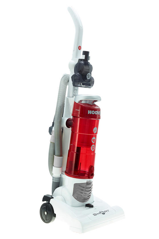 Hoover TH71 SM02001 Smart Bagless Pets Upright Vacuum Cleaner, 3 L, 700 W White and Red [Energy Class A]