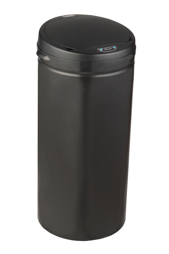 Russell Hobbs BW04180 40 Litre Round Hands Free Motion Sensor Dustbin/Kitchen Bin, Black