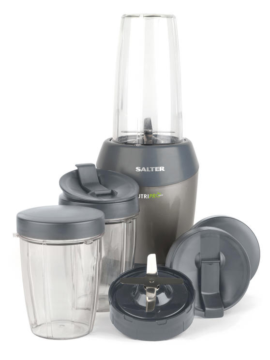 Salter EK2002SILVERV2 Nutri Pro Super Charged Multi-Purpose Nutrient Extractor Blender, 1 Litre, 1200 W, Silver [Energy Class a]