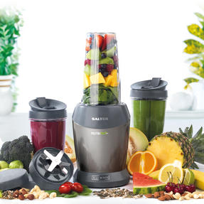 Salter EK2002SILVERV2 Nutri Pro Super Charged Multi-Purpose Nutrient Extractor Blender, 1 Litre, 1200 W, Silver [Energy Class a] Thumbnail 2