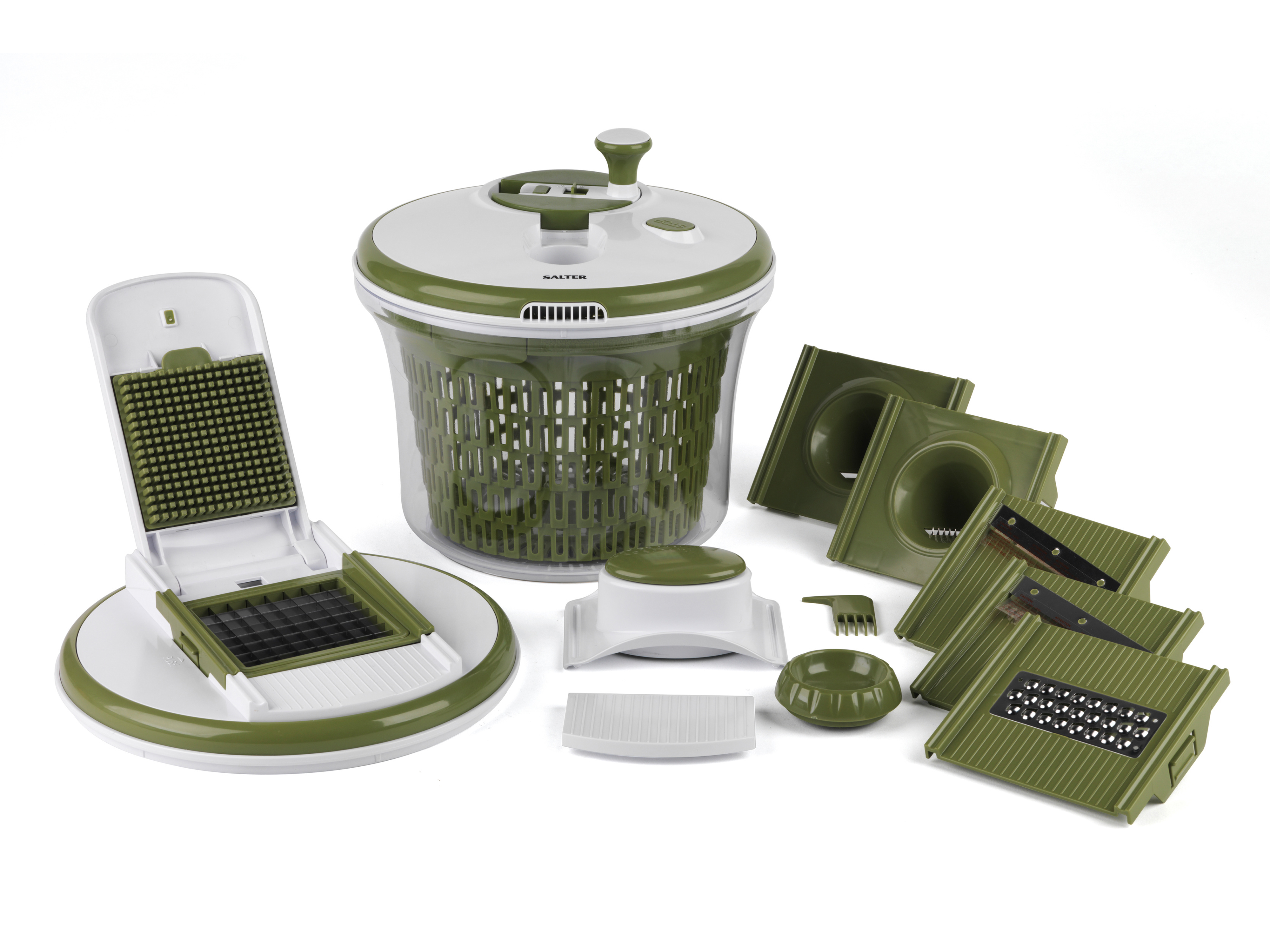 Salter all in one food preparation set green kitchen for All kitchen set
