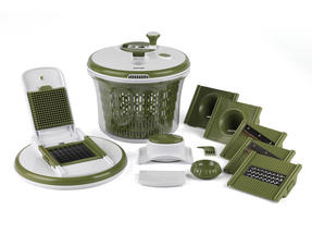 Salter All In One Food Preparation Set, Green Thumbnail 1