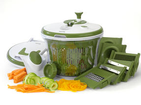 Salter BW05517 All In One Food Preparation Set, Green Thumbnail 2
