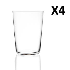 RCR Armonia Set Of 4 High Tumblers Luxion Glass 55cl