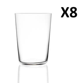 RCR Armonia Set Of 8 High Tumblers Luxion Glass 55cl