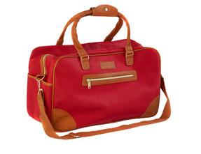 Constellation Pebble Textured Esquire Carry Holdall, Red Thumbnail 2