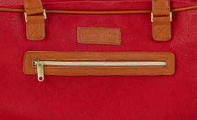 Constellation Pebble Textured Esquire Carry Holdall, Red Thumbnail 3