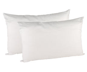 Beldray MFBEL07235 Esssential Polycotton Pillows, Twin Pack, White Thumbnail 2