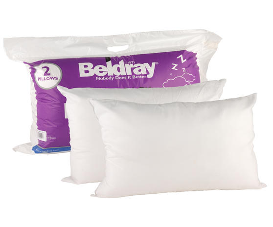 Beldray Deep Fill Pillows, Twin Pack, White