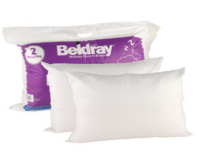 Beldray MFBEL07297 Deep Fill Pillows, Twin Pack, White Thumbnail 1