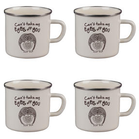 Cambridge BW0397508 Enamel Owl Eyes Mug Set of 4 Thumbnail 1
