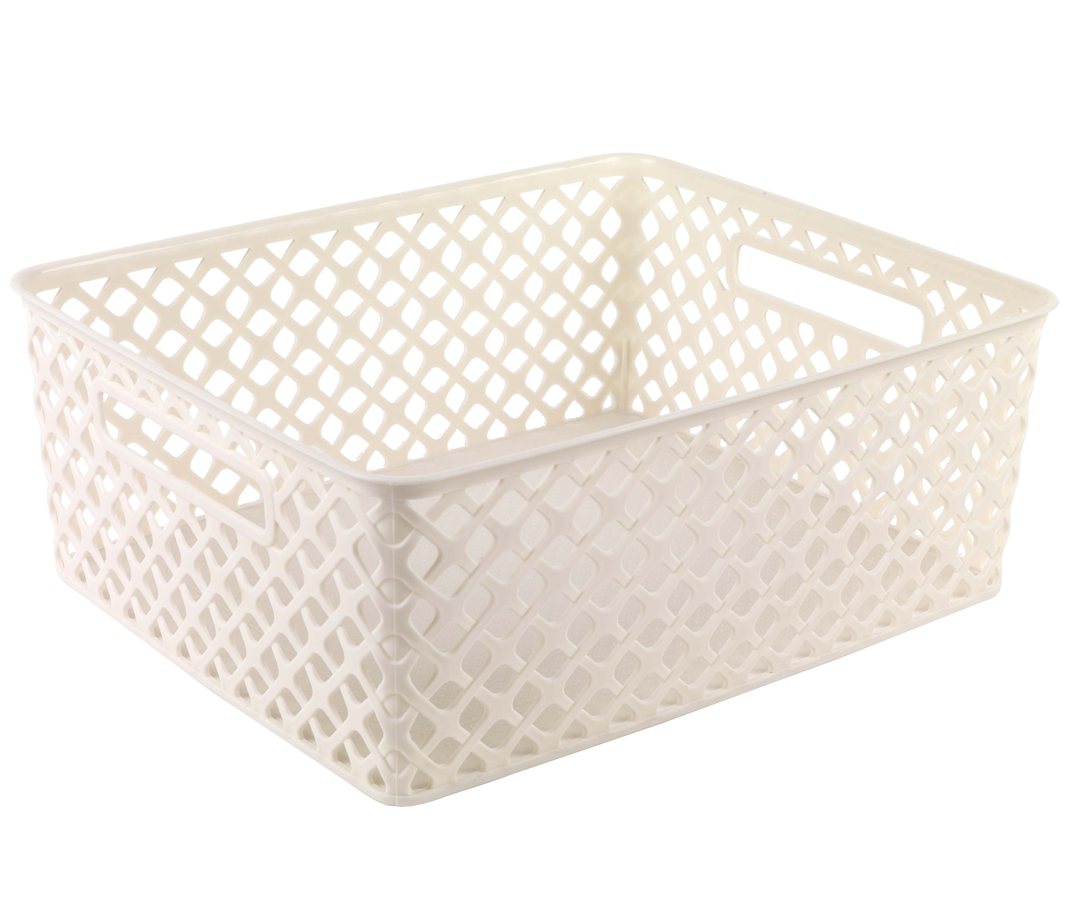 Beldray la038432 medium cream deco basket bathroom for Cream bathroom accessories