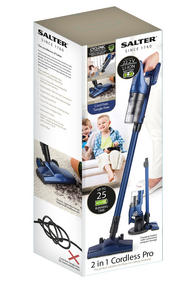 Salter 2 in 1 Cordless Pro Lightweight Vacuum Cleaner, 300 ml, 22.2 V, Blue Thumbnail 7