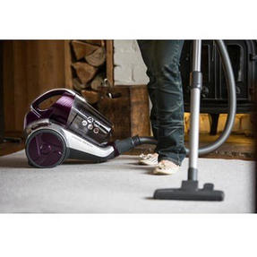 Hoover BF70_VS01002 Vision Reach Bagless Pets Cylinder Vacuum Cleaner, 700 W, Silver/Purple Thumbnail 2