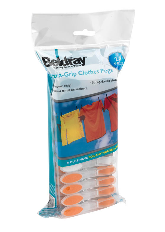 Beldray 24 Pack Soft Grip Clothes Pegs Thumbnail 3