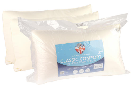 Dreamtime MFDT05897 Classic Comfort Twin Pack Memory Foam Pillows