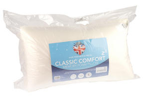 Dreamtime MFDT05897 Classic Comfort Twin Pack Memory Foam Pillows Thumbnail 2